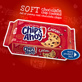 Nabisco - Chips Ahoy!chewy    Soft chocolate chip cookies full of yummy real chocolate chips.