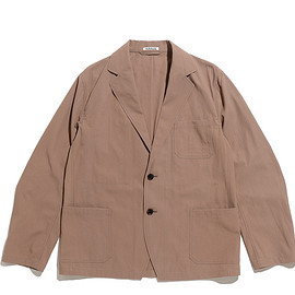AURALEE - Finx Hard Twist Gabardine Jacket-Brown