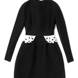 VALENTINO - Long Sleeved Flared Dress With Embroidered Peplum