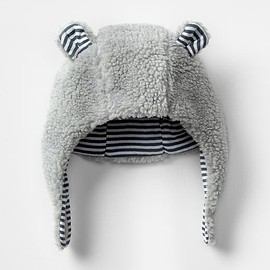 GAP BABY - Stripe lined sherpa bear hat Product Image