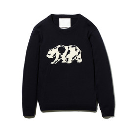 White Mountaineering - ROUND NECK KNIT [WHITE BEAR]