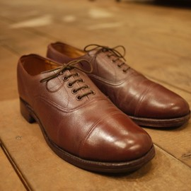 Sanders - Vintage Plain Cap Oxford Shoes