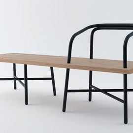Established & Sons  - Table, Bench, Chair by Sam Hech