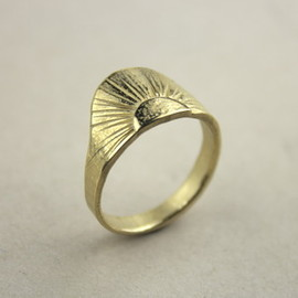 Image of Sunrise Ring- 9k Gold