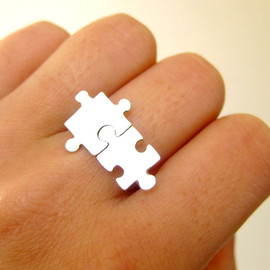 smilingsilversmith - Puzzle Ring About Autism - 50% Sales go to Autism Society