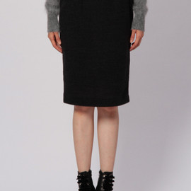 G.V.G.V. - FITTED MIDIUM SKIRT BLACK