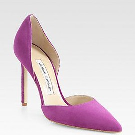 Manolo Blahnik - Radiant Orchid in Fashion - Manolo Blahnik