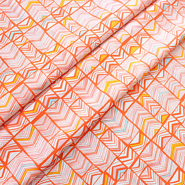 Art Gallery Fabrics - Meadow Geos Bright Mandarin