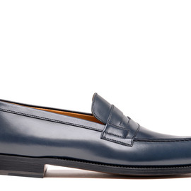 J.M. Weston - Mocassin 180 Navy Blue Box Calf