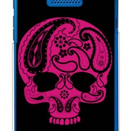 SECOND SKIN - Paisley skull ブラック (クリア) design by ROTM / for DIGNO DUAL 2 WX10K/WILLCOM