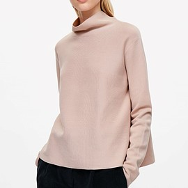 COS - High-neck A-line knit jumper / DUSTY PINK