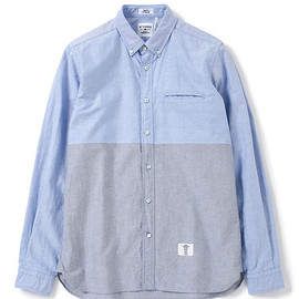 "BEDWIN & THE HEARTBREAKERS - L/S OX HALF PATTERN SHIRTS ""BRIAN"""