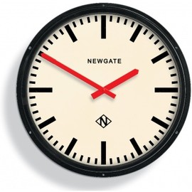 Newgate - Black Metropolitan Station Clock