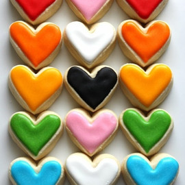 Cororful Heart Cookies