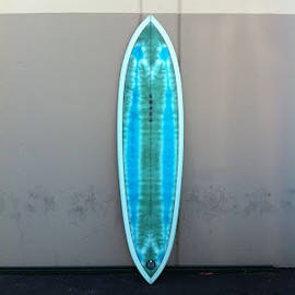 shakastics custom surfboards - 7'0 tri-plane pin-tail hull