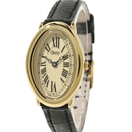 Obrey - Oval gold plated watch