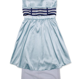 "Sister - 【PEARL】under dress ""Baby blue/Navy"""