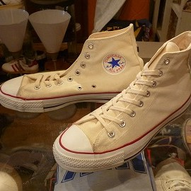 "converse - 「<used>80-90's converse ALLSTAR HI white""made in USA"" size:US8/h(27cm) 10000yen」完売"