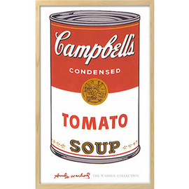 Andy Warhol - Soup Can Prints(Tomato)Natural Frame