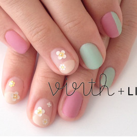virth+LIM - hand nail お花