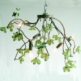 tonic home - Bird & Blossom Jade Green Chandelier