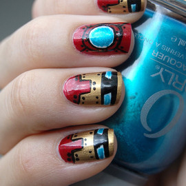 nail - Awesome Ironman nails by Emelie J.!