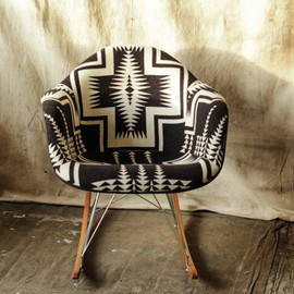 Beam & Anchor - B&W Cross Pendleton Eames Rocker