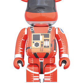 MEDICOM TOY - BE@RBRICK SPACE SUIT ORANGE Ver.1000%