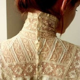 High neck, beautiful lace top
