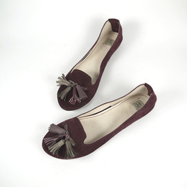 elehandmade - The Loafers Shoes in Burgundy Suede - Handmade Leather Shoes