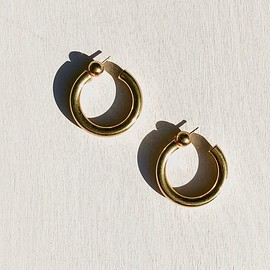 SOPHIE BUHAI - GOLD SMALL EVERYDAY HOOPS