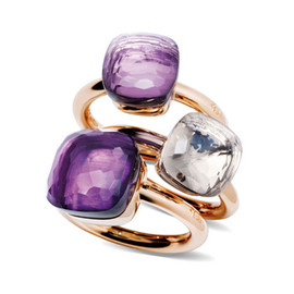 POMELLATO - Nudo Rings with Amethyst