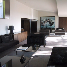 Tom Ford - Lounge at Tom Ford's Richard Neutra house, LA