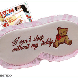 "Mary Green - ""I can't sleep without my teddy"" sleep mask"