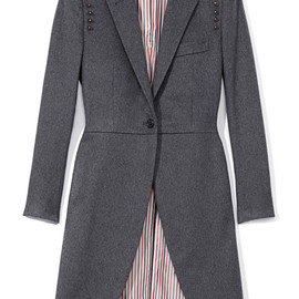 THOM BROWNE - Morning Cashmere Coat With Studs(EXCLUSIVE)