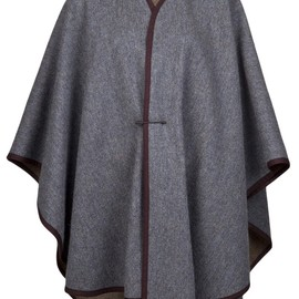 YVES SAINT LAURENT, VINTAGE - 1970'S wool cape