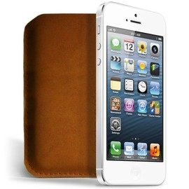 Mujjo - iPhone 5 Sleeve - Brown Leather Edition