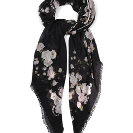 GIVENCHY - Floral-print cashmere scarf