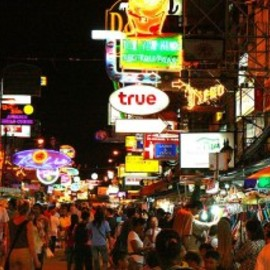 Bangkok, Thailand - Partying on Khao San Road