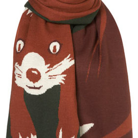 TOPSHOP - Fox Knitted Scarf