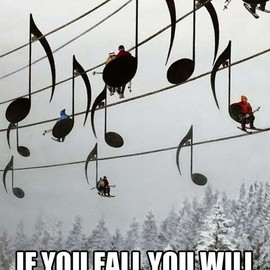 music note chair lift
