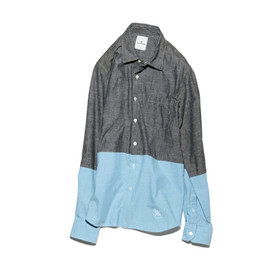L/S 2 TONE REGULAR COLLAR SHIRT