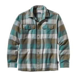 patagonia - Patagonia Men's Long-Sleeved Fjord Flannel Shirt - Double Lutz: Fatigue Green (DZFG)