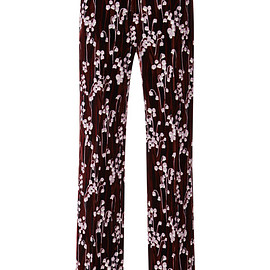 GIAMBA - Pre-Fall 2015  Lily Of The Valley Smooth Velvet Relaxed Pants