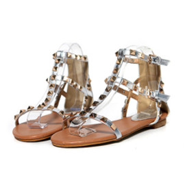 Dholic - Studded Silver Strap Sandals