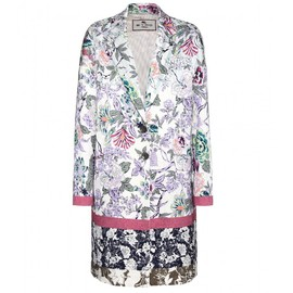 ETRO - Printed cotton-blend coat