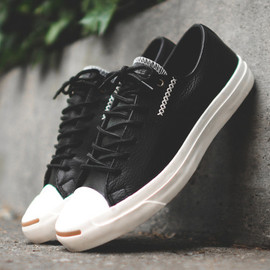 CONVERSE - Converse Jack Purcell – Black Leather – White