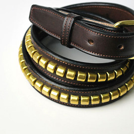 TORY LEATHER - THE CLINCHER BELTS HAVANA