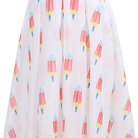 Popsicles Print Pleated Chiffon Skirt pictures