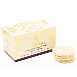 PRESTAT - White Chocolate Wafers Caffe Latte